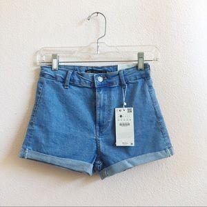 NWT Bershka high waisted denim shorts